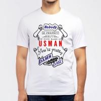 "Футболка мужская ""If your name is Usman, you are pretty…"""