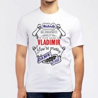 "Футболка мужская ""If your name is Vladimir, you are pretty…"""