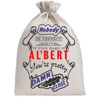"""Мешочек холщовый подарочный """"If your name is Albert, you are pretty…"""""""
