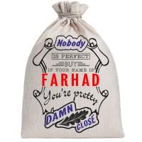 "Мешочек холщовый подарочный ""If your name is Farhad, you are pretty…"""