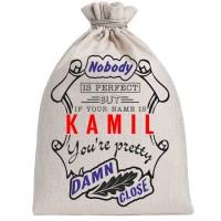"Мешочек холщовый подарочный ""If your name is Kamil, you are pretty…"""