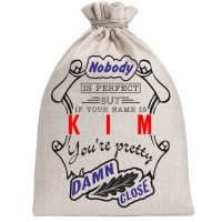"Мешочек холщовый подарочный ""If your name is Kim, you are pretty…"""