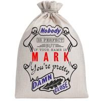 "Мешочек холщовый подарочный ""If your name is Mark, you are pretty…"""