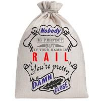 "Мешочек холщовый подарочный ""If your name is Rail, you are pretty…"""