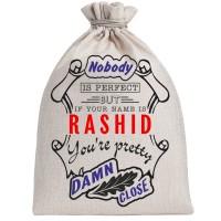 """Мешочек холщовый подарочный """"If your name is Rashid, you are pretty…"""""""