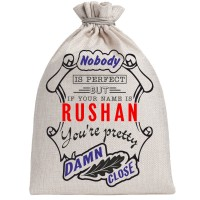 "Мешочек холщовый подарочный ""If your name is Rushan, you are pretty…"""