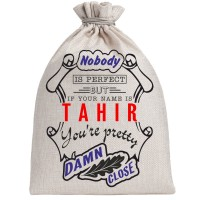 "Мешочек холщовый подарочный ""If your name is Tahir, you are pretty…"""
