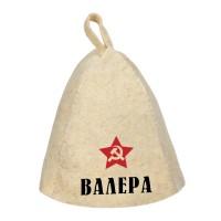 Шапка для сауны с именем Валера (звезда)