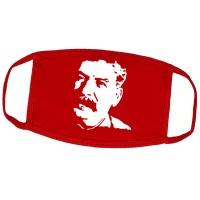 """Маска на лицо от вирусов красная """"Сталин"""" (многоразовая)"""
