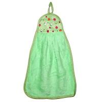 """Полотенце кухонное из микрофибры """"Яблочки"""" (зеленый)"""