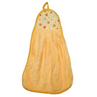 """Полотенце кухонное из микрофибры """"Яблочки"""" (желтый)"""