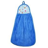 """Полотенце кухонное из микрофибры """"Яблочки"""" (голубой)"""