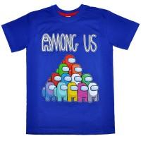 "Футболка подростковая ""Among Us Party"" (синий)"