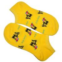 """Носки женские, короткие """"Cute dog"""" (желтый)"""