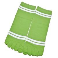 """Носки женские с пальцами """"Две полосы"""" (зеленый)"""