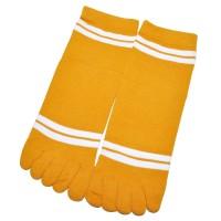 """Носки женские с пальцами """"Две полосы"""" (желтый)"""