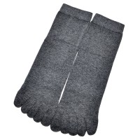 Носки мужские с пальцами (темно-серый)