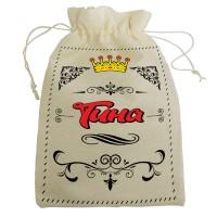 """Мешочек для подарка с именем """"Тина"""""""