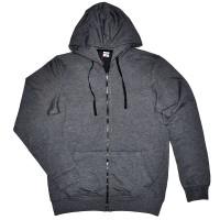 Толстовка Кенгуру с капюшоном и карманами на молнии, серый меланж (Fazo-R)