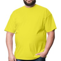 Футболка большого размера RexTex (желтый)