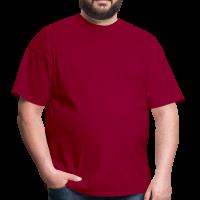 Футболка большого размера RexTex (бордовый)
