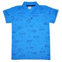 """Рубашка-поло детская """"Кораблик"""" (синий)"""