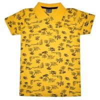 """Рубашка-поло детская """"Пальмы"""" (желтый)"""