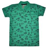 """Рубашка-поло детская """"Пальмы"""" (зеленый)"""