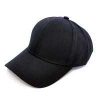 Кепка бейсболка классическая, черная (премиум) для вышивки