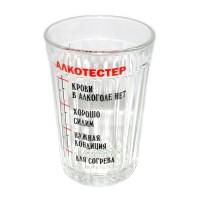 """Стакан граненый с надписью """"Алкотестер"""""""