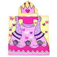"""Детская накидка с капюшоном из микрофибры """"Принцесса"""""""