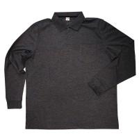 Рубашка-поло с рукавами большого размера (темно-серый)