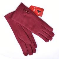 """Перчатки женские текстильные, """"Классика"""", сенсорные (бордовый)"""