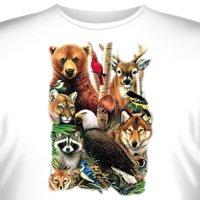Футболка Art_Brands «A Magic North America» (Животные Северной Америки, 10793)