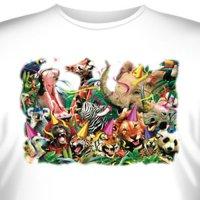 Футболка Art_Brands «Party Animals» (Вечеринка животных, 10782)