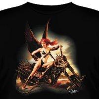 Футболка Art_Brands «The Angel Rides» (Ангел на мотоцикле, 10696)