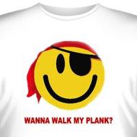 Футболка Art_Brands «Walk My Plank» (Смайлик - пират, 07575)