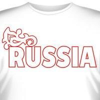 """Футболка с эмблемой """"Russia"""" (2)"""