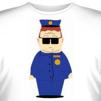 "Футболка ""Южный Парк (Officer Barbrady) -1"