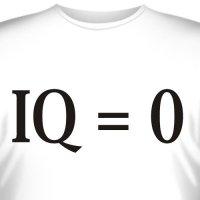 """Футболка """"IQ=0"""""""