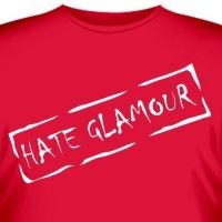 "Футболка  ""Hate Glamour "".  400 RUR."