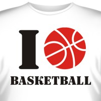 "Футболка ""I love basketball"""