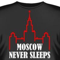 "Футболка ""Moscow Never Sleeps"""