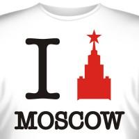 "Футболка ""I love Moscow"""