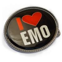 """Бляха сменная для ремня """"I Love EMO"""""""