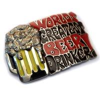 """Бляха сменная для ремня """"Кружка с пивом"""""""