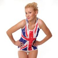 Футболка с Британским флагом купить, заказать мужские или женские...