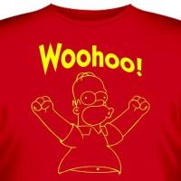 """Футболка """"Гомер Симпсон (Woohoo)"""""""