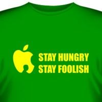 "Футболка ""Stay hungry, stay foolish (Стив Джобс)"""