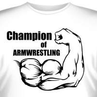 "Футболка ""Champion of armwrestling"""